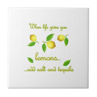 When life gives you lemons tile