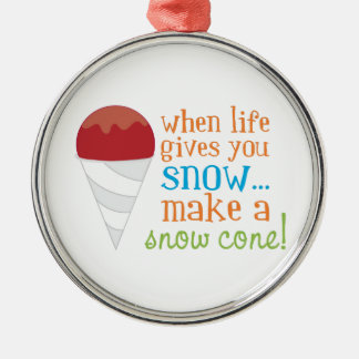 When Life Gives You Snow... Make A Snow Cone! Christmas Ornament