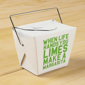 When Life Hands you Limes Make a Margarita Favour Box