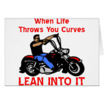 When Life Throws You Curves Lean Into It Cards