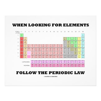 When Looking For Elements Follow The Periodic Law 21.5 Cm X 28 Cm Flyer