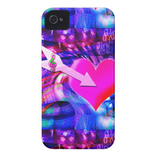 When Music arrow targeted heart Case-Mate iPhone 4 Case