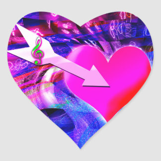 When Music arrow targeted heart Heart Sticker