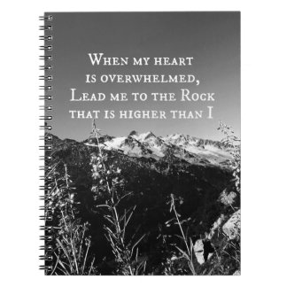 When My Heart is Overwhelmed Bible Verse Notebook