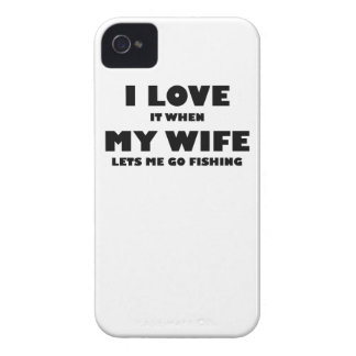 When My Wife Lets Me Go Fishing iPhone 4 Case-Mate Cases