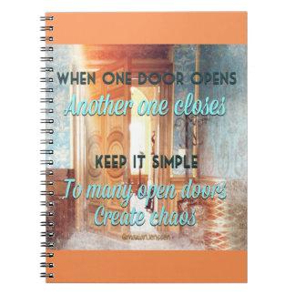 When one door opens notebooks