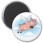 When Pigs Fly, Fun Happens Refrigerator Magnet