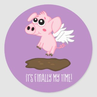When Pigs Fly in the Year of the Pig Classic Round Sticker