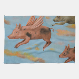 When Pigs Fly Kitchen Towels