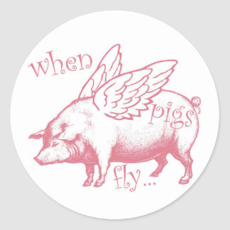 When Pigs Fly Whimsical Stickers