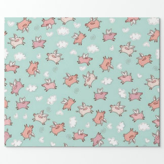 When Pigs Fly Wrapping Paper