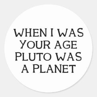 When Pluto Classic Round Sticker