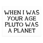 When Pluto Post Card
