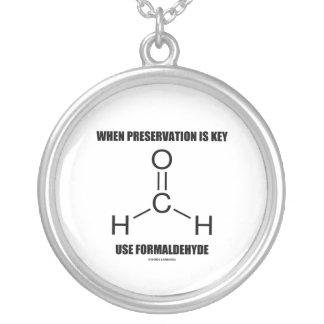 When Preservation Is Key Use Formaldehyde Round Pendant Necklace