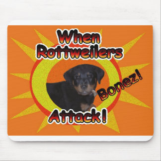 When Rottweilers Attack Bones Mouse Mat