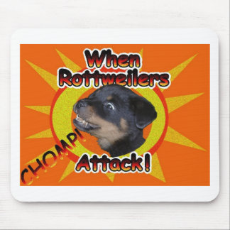 When Rottweilers Attack Mouse Mat