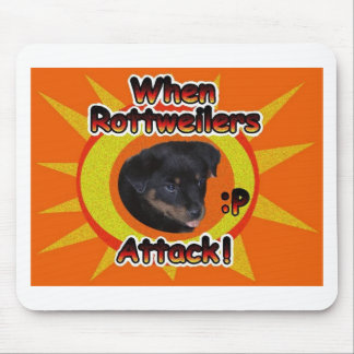 When Rottweilers Attack :p Mouse Mat