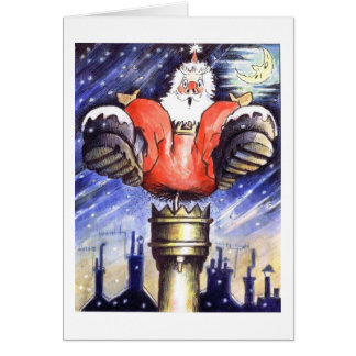 When Santa Got Stuck In The Chimney Greeting Cards