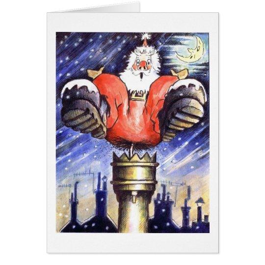 When Santa Got Stuck In The Chimney Card