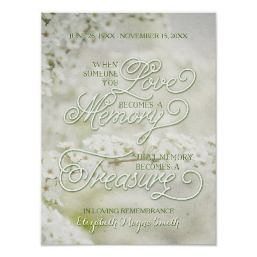 When Someone You Love Becomes a Treasured Memory Poster