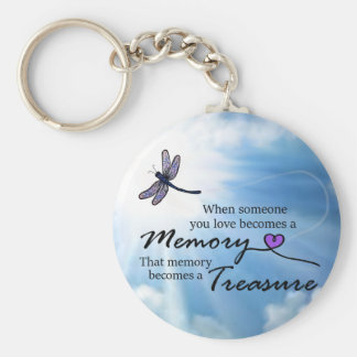 When someone you love, dragonfly key ring