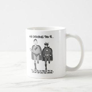 When Superheroes Turn 40 Classic Mug