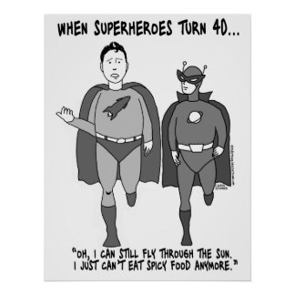 When Superheroes Turn 40 Poster