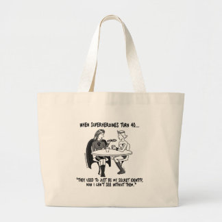 When Superheroines Turn 40 Jumbo Tote Bag