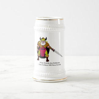 When Swords Are Outlawed Beer Stein