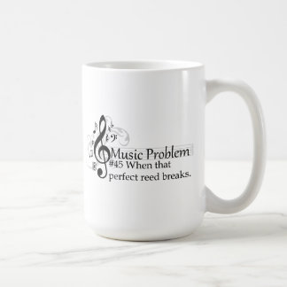 When that perfect reed breaks. basic white mug