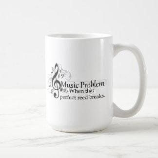 When that perfect reed breaks. coffee mug