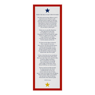 When the Blue Star Turns to Gold 20x60 size Poster