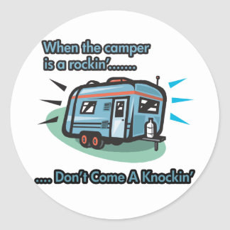 When the camper is a rockin' classic round sticker