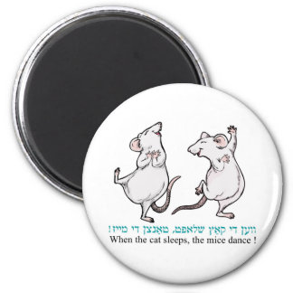 """ When the cat sleeps, the mice dance"" Magnets"