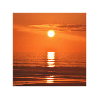 When the Ocean Meets the Sun for a Brand New Day Canvas Print