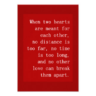 WHEN TWO HEARTS ARE MEANT FOR EACH OTHER NO DISTAN INVITE