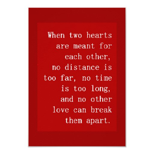 Love Each Other When Two Souls: WHEN TWO HEARTS ARE MEANT FOR EACH OTHER NO DISTAN 3.5X5
