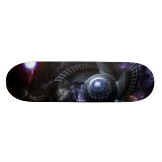 When Universes Collide Fractal Art skateboard