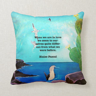 When We Are In Love Inspirational Quote Cushion