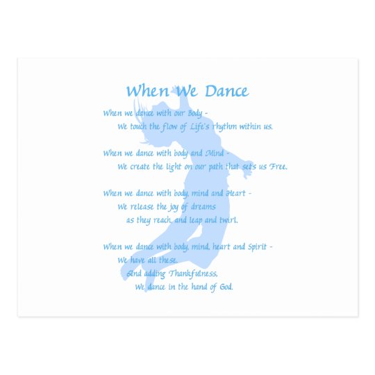 When We Dance Postcard