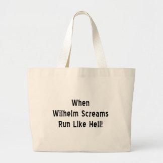 When Wilhelm Screams Jumbo Tote Bag