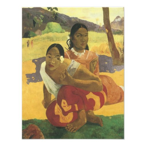 When Will You Marry? by Gauguin, Vintage Fine Art Custom Announcements