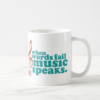 When Words Fail Music Speaks Basic White Mug