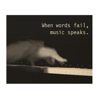 When words fail, music speaks. Fine art photograph Wood Prints