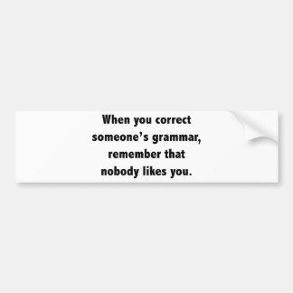 When You Correct Someone s Grammar Bumper Sticker