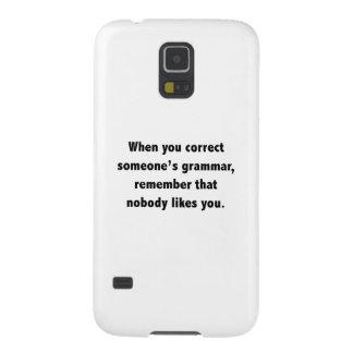 When You Correct Someone's Grammar Galaxy S5 Case
