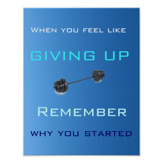 When You Feel Like Giving Up - Poster