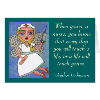 When you re a nurse - greeting card