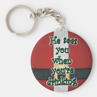 When You re Drinking Santa Suit Keychain