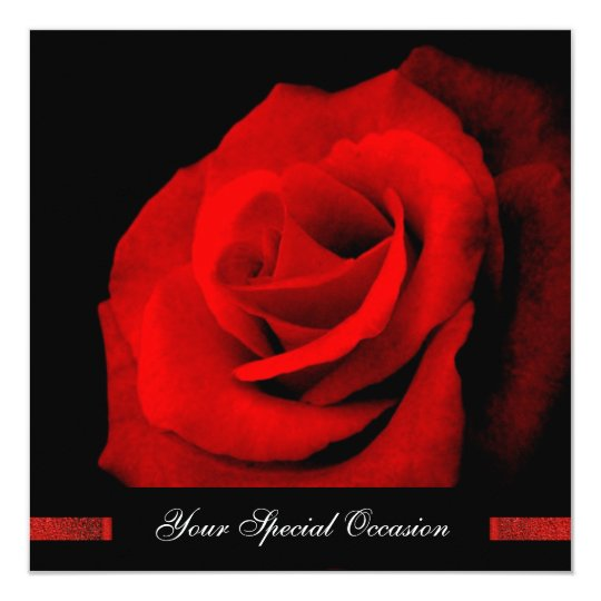 When You Smile/Red Rose Your-Occasion Invites